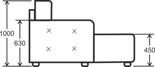 Диван угловой Клео 2.2